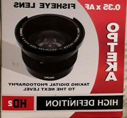 0.35 X AF High Def HD² / Wide Angle / Fish Eye Panoramic Ma