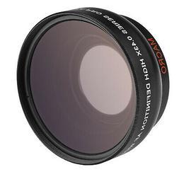 Opteka 0.43x 58mm Wide Angle Macro Lens for Canon Fuji Nikon