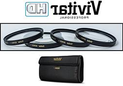 4-Pcs +1/+2/+4/+10 Vivitar Close Up Macro Lens Kit for Nikon