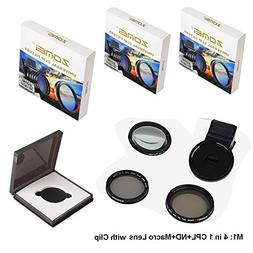 Zomei 4 in 1 Cell Phone Camera Lens Kit, 10X Close Up Macro