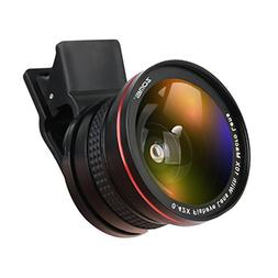 ZOMEI Professional 2 in 1 HD Phone Lens 0.42X Fisheye Lens w