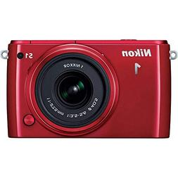 Nikon 1 S1 10.1MP Red Digital Camera with 11-27.5mm Lens