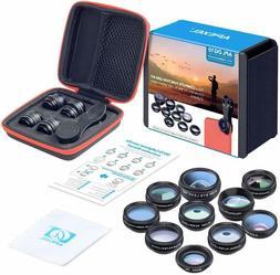 Apexel 10 in 1 Cell Phone Camera Lens Kit NEW