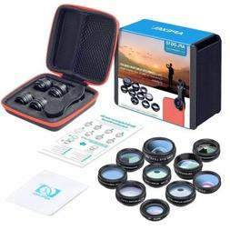 10 in 1 Cell Phone Camera Lens Kit Wide Angle & Macro Lens i