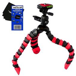 "12"" Flexible Wrapable Legs Tripod with Quick Release Plate a"