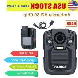 1290P Police Body Worn Camera Built-in 64GB IR Night Vision