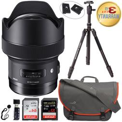 Sigma 14mm DG HSM Art Lens -Nikon F + LowePro Bag + Davis &