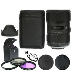 Sigma 18-35mm f/1.8 DC HSM Art Lens for Canon + Deluxe Acces