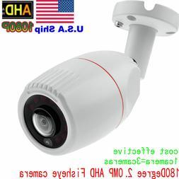 2.0MP 1080P HD TVI AHD CVI Camera CCTV wired 180 Degree Fish