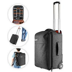 Neewer 2-in-1 Camera Backpack Luggage Trolley Case for DSLR
