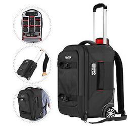 Neewer 2-in-1 Camera Rolling Backpack Trolley Case, Waterpro