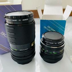 2 New ROKINON Lenses for Canon AE-1 Camera Body - Macro Zoom