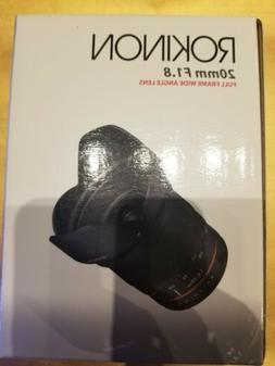 Rokinon 20mm f/1.8 ED AS UMC Wide Angle Lens for Canon EF Mo