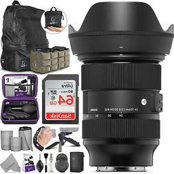 Sigma 24-70mm f/2.8 DG DN Art Lens for Sony E Mount with Adv