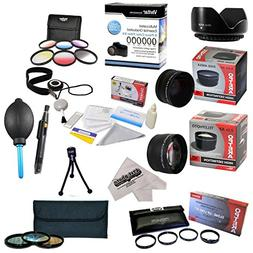 25 Piece Advanced Lens Package For The Sony Alpha A100, A200