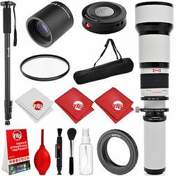 Opteka 2600mm Telephoto Zoom Lens Canon 80D 77D 70D T7i T7s