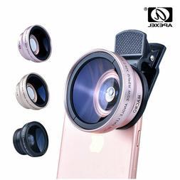APEXEL 2in1 Lens 0.45X Wide Angle+12.5X Macro Lens Professio