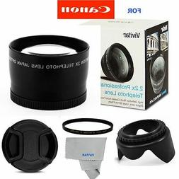 2X Tele Converter Lens +ACCESSORIES FOR CANON EOS REBEL CAME
