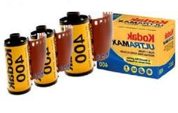 3 PACK Kodak Ultramax 400 Color Print Film 36 EXP. 35MM DX 4