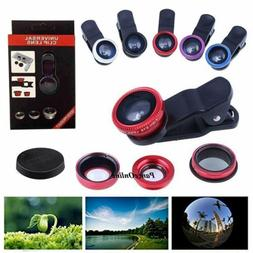 3 in 1 Camera Lens Wide Angle Fish Eye Macro Clip for iPhone
