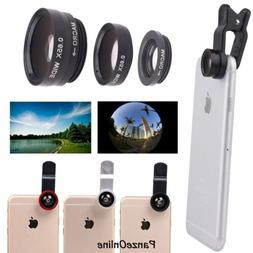 3 in1 Clip Fish Eye+Macro+Wide Angle Lens Camera kit for iPh