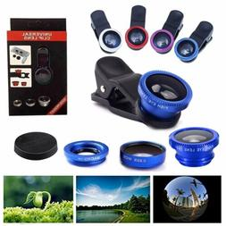 3 in1 Fish Eye+ Wide Angle + Macro Camera Clip-on Lens for U