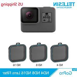 TELESIN 3 Pack ND4 ND8 ND16 Camera Lens Filter Set for Gopro