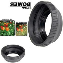 Bower 30.5mm Collapsible Rubber Lens Hood  For  Photo & Vide