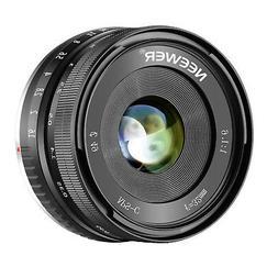 Neewer 32mm F/1.6 Manual Focus Prime Lens Sharp High Apertur