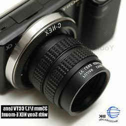 Fujian 35mm f/1.7 CCTV cine lens for Sony NEX E-mount camera