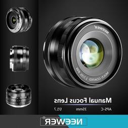 Neewer 35mm F/1.7 Large Aperture Manual Prime Fixed Lens APS