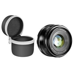 Neewer 35mm f/1.7 Manual Focus Prime Fixed Lens with Lens Po