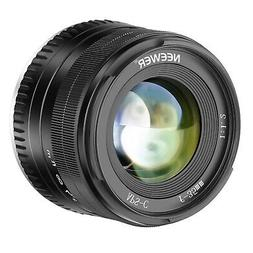 Neewer 35mm F1.2  Manual Focus Prime APS-C Aluminum Lens Com