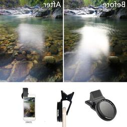 Clip-on Phone Camera Lenses CPL Filter 37mm Cell Phone Lens