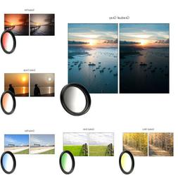 37mm Gradient 7 Colors Camera Lenses Filters Mobile Phone Cl