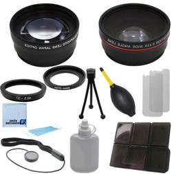 37mm Wide Angle + 2.2x Telephoto Lens for DSLR Cameras,Ring