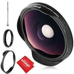 Opteka .3x Fisheye Lens for Canon Sony JVC 37mm Threaded Vid