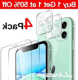 4-Pack For iPhone 11 Pro Max Tempered Glass Screen Camera Le