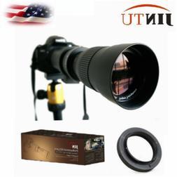 JINTU 420-800mm HD Telephoto Lens for Nikon D3000 D3100 D320
