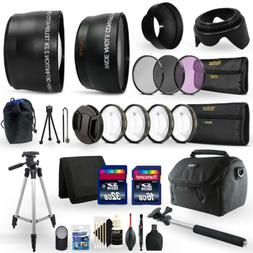 48GB Top Accessory Kit for Canon EOS Rebel T100 3000D 4000D