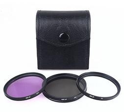 49mm UV CPL FLD Filter For Canon Nikon Olympus Pentax DSLR <