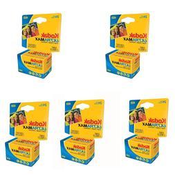 5 Rolls Kodak UltraMax GC 400 asa ISO 24 EXP. Color Print 35