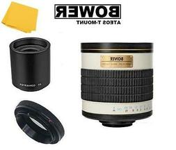 Bower 500/1000mm f/6.3  Telephoto Mirror Lens for Canon EOS