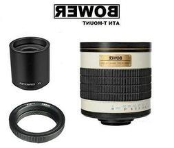 Bower 500/1000mm f/6.3  Telephoto Mirror Lens for Nikon DSLR