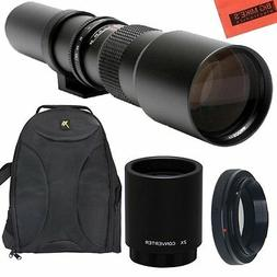 500mm 1000mm f/8 Lens + BackPack for Canon Rebel T2i, T3, T3