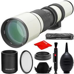 Opteka 500mm/1000mm Telephoto Lens for Canon EOS 4000D 2000D