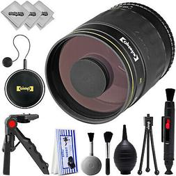 Opteka 500mm f/8.0 Telephoto  Sport & Wildlife Lens for Cano
