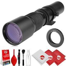 Opteka 500mm Telephoto Lens for Canon EF 80D 77D 70D 60D 7D