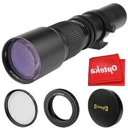 Opteka 500mm Telephoto Lens for Nikon Nikkor 1 Mount Mirrorl