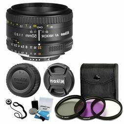 50mm f/1.8D AF Nikkor Autofocus Lens + 3 Piece Filter Set Co